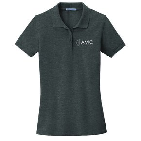 Port Authority Port Authority Ladies EZ Cotton Polo ( Charcoal Heather )