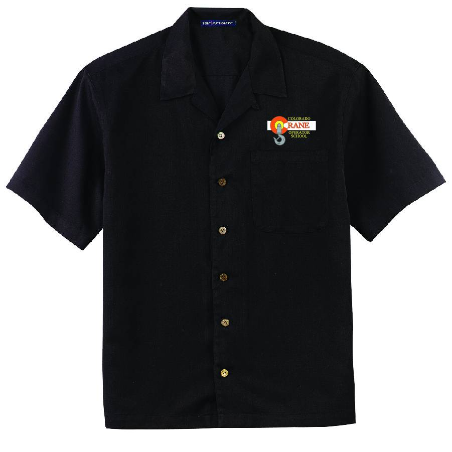 Port Authority Port Authority® Easy Care Camp Shirt ( Black )
