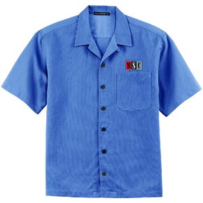 Port Authority Port Authority® Easy Care Camp Shirt ( Blue )