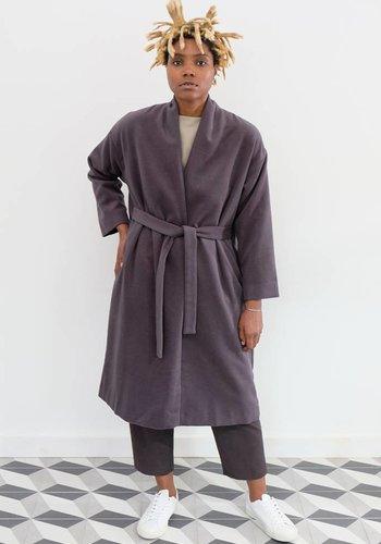 Evam Eva Angora Wool Robe Coat