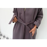 Angora Wool Robe Coat