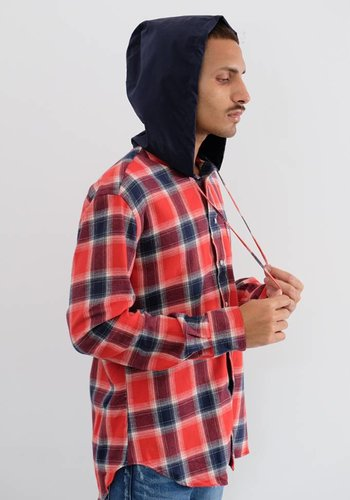 Gitman Vintage Long Sleeve Flannel Hooded Shirt