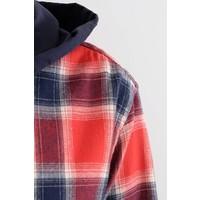 Long Sleeve Flannel Hooded Shirt