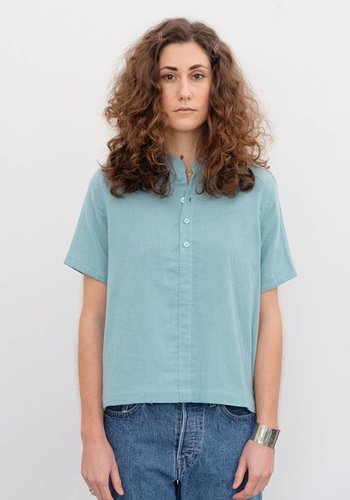 Wrk-Shp Cropped Cotton Shirt