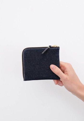 Comme des Garçons Denim Corner Zip Wallet