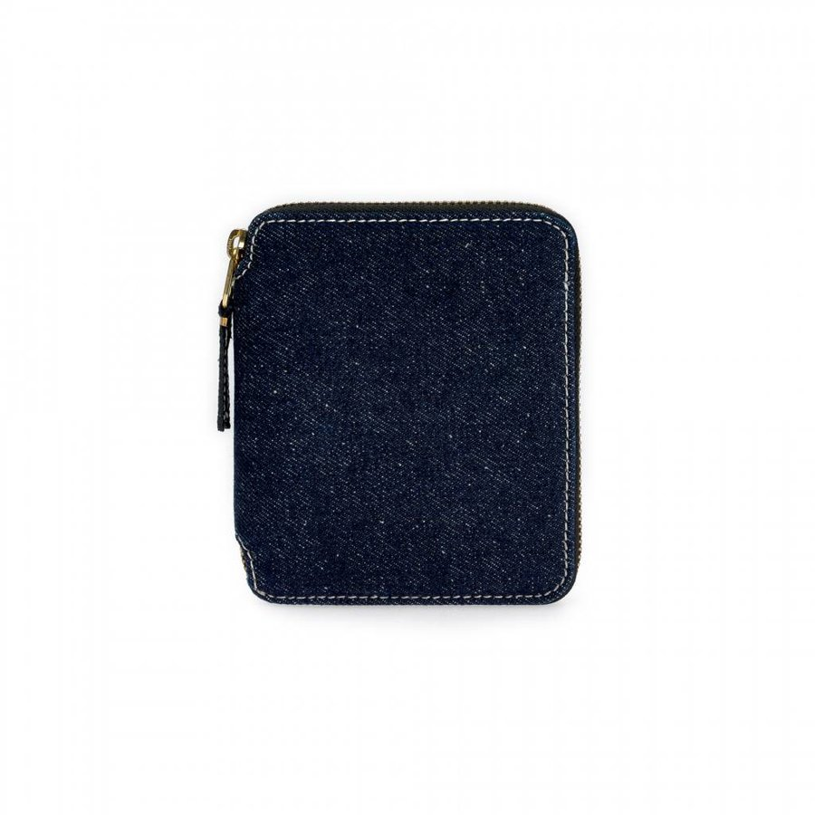 Denim Zip-Around Wallet