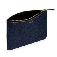 Denim Large Zip Pouch