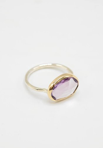 Melissa Joy Manning Amethyst Freeform Ring