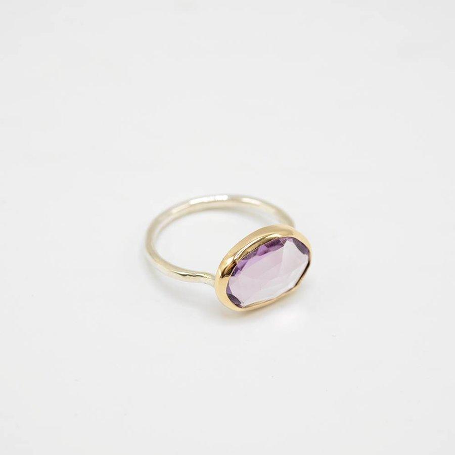 Amethyst Freeform Ring