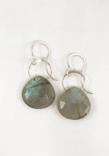 Melissa Joy Manning Labradorite Single Drop Earrings