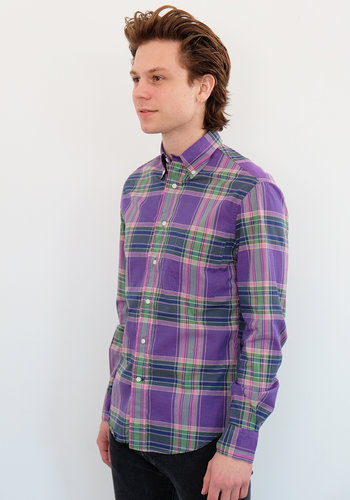Gitman Vintage Long Sleeve Plaid Poplin Shirt