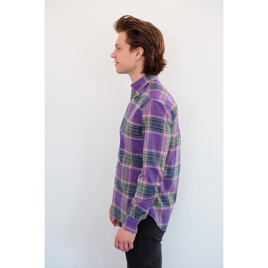 Long Sleeve Plaid Poplin Shirt