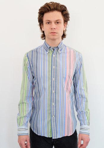 Gitman Vintage Long Sleeve Stripes Poplin Shirt