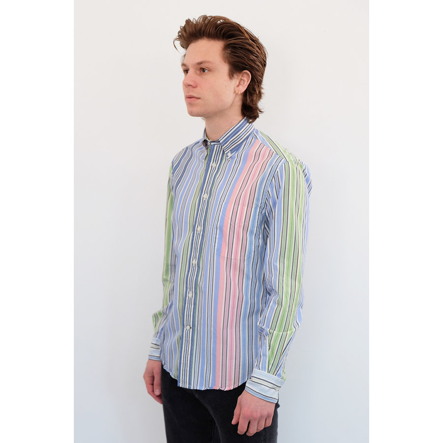 Long Sleeve Stripes Poplin Shirt