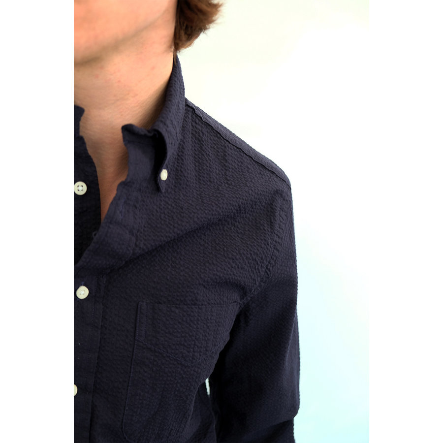 Long Sleeve Seersucker Oxford Shirt