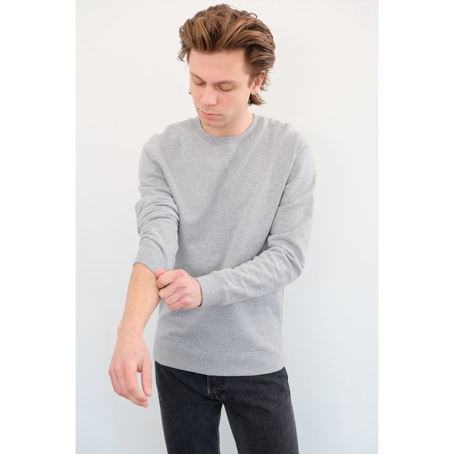 Grey Loopback Cotton Sweatshirt