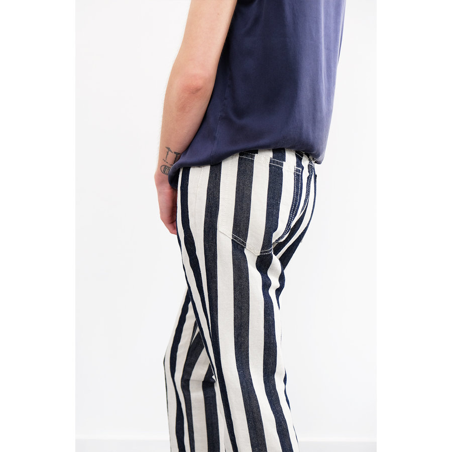 Striped Shorty Jeans