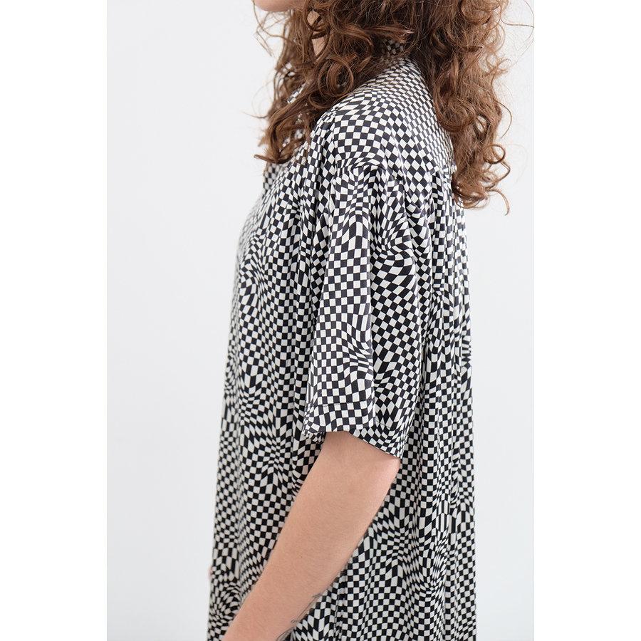 Silk Psychedelic Shirt Dress