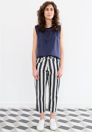 6397 Striped Shorty Jeans