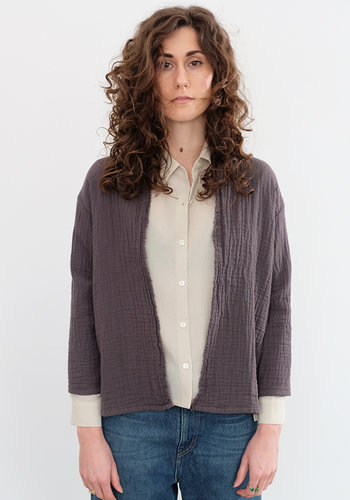 Evam Eva Triple Gauze Cotton Cardigan