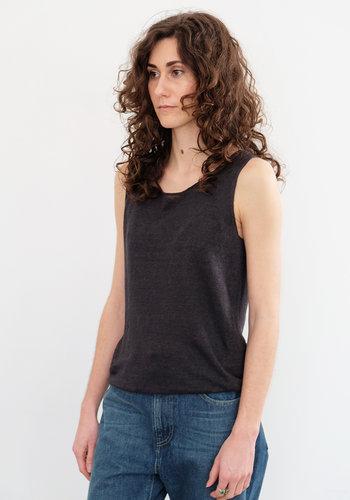 Evam Eva French Linen Yarn Tank
