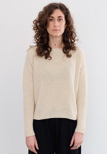 Evam Eva Nubby Silk Yarn Sweater