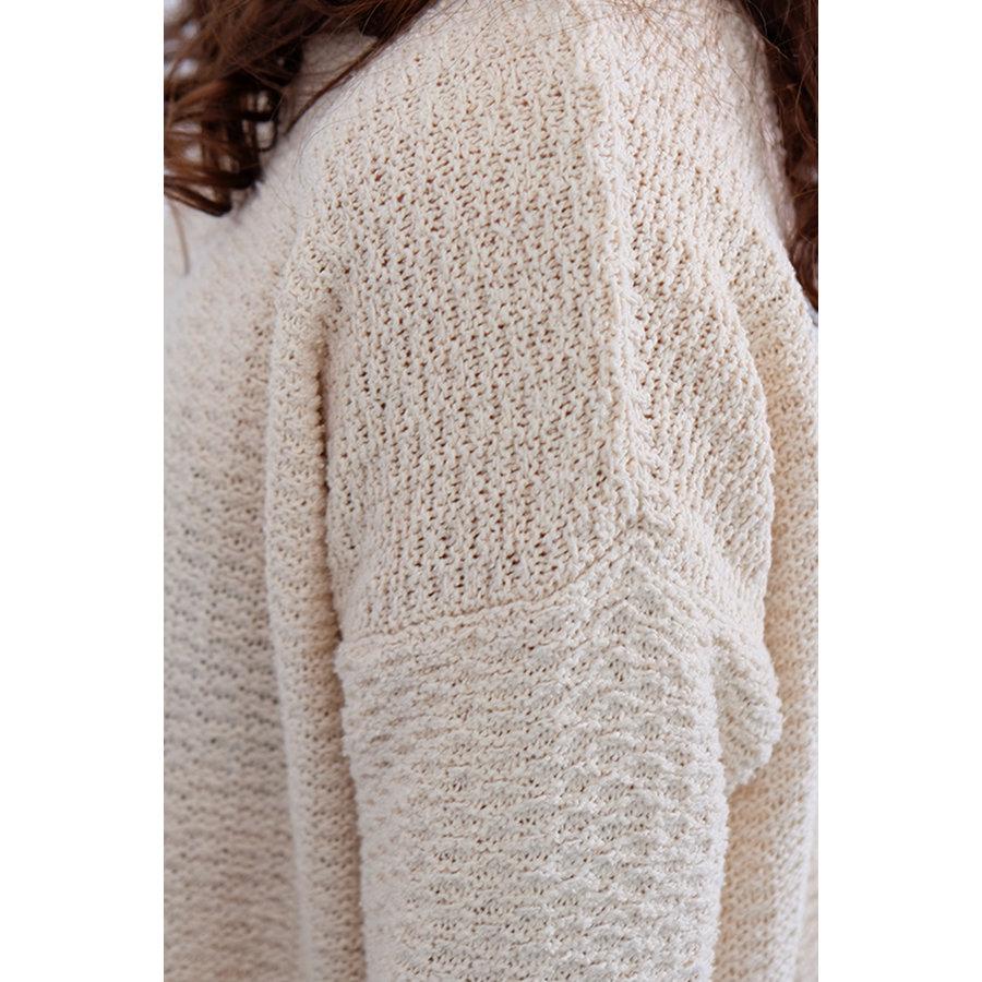 Nubby Silk Yarn Sweater