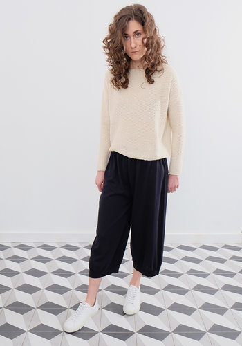 Evam Eva Egyptian Cotton Knit Pants