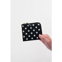 Polkadot Corner Zip Wallet