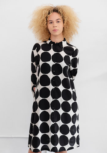 Marimekko Bettina Pienet Kivet Silk Dress