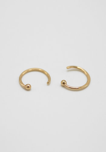 Melissa Joy Manning 14k Gold Hug Hoop Earrings