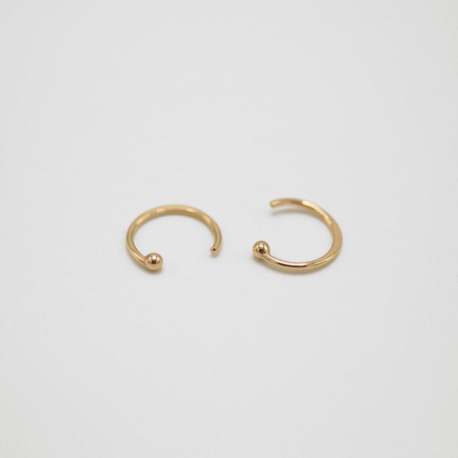 14k Gold Hug Hoop Earrings