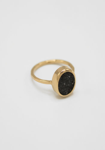 Melissa Joy Manning Black Druzy Agate Ring