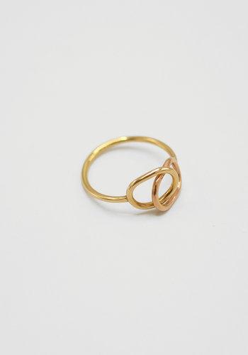 Susumi Studio Mixed Gold Link Ring