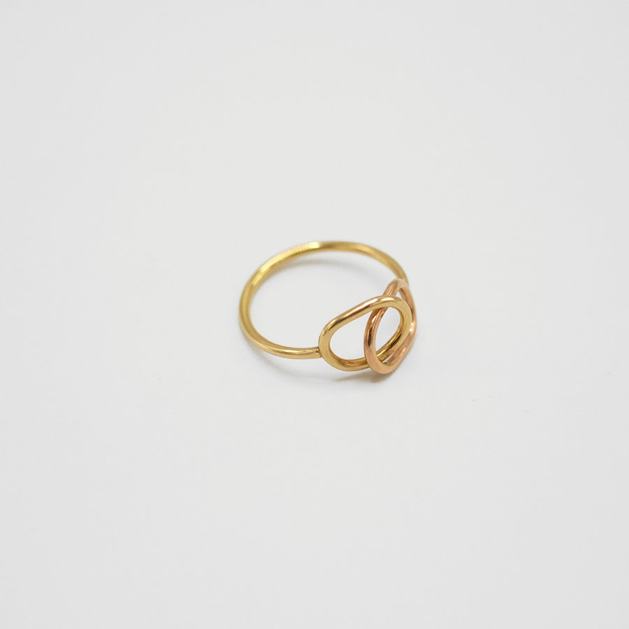 Mixed Gold Link Ring