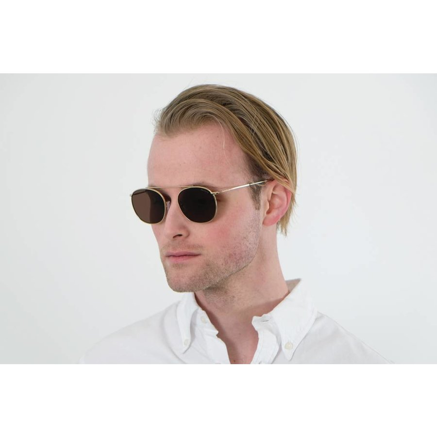 Gold Mykonos Sunglasses
