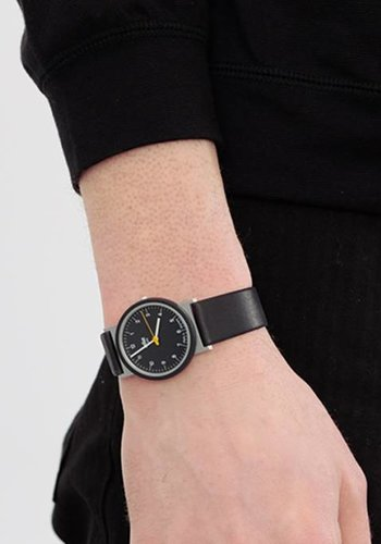 Braun AW10 Re-Edition Watch with Numbered Black Face