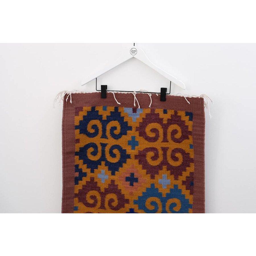 Custom Oaxacan Repeated Leaves Rug
