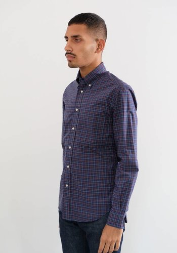 Gitman Vintage Long Sleeve Neat Plaid Poplin Shirt