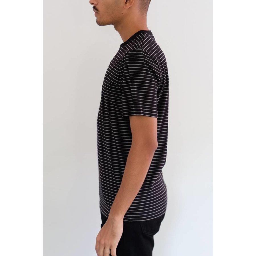 Short Sleeve Striped Crewneck
