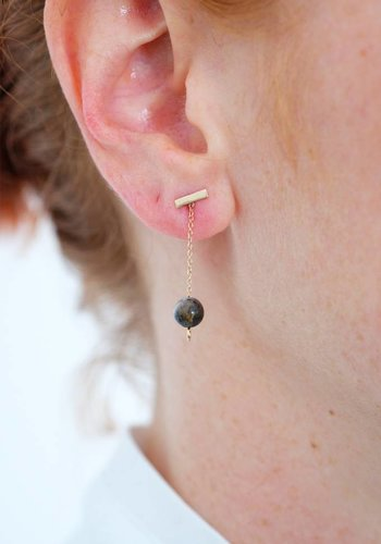 Susumi Studio Moss Opal Chain Earring