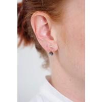 Moss Opal Chain Earring