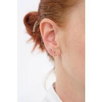 14k Beaded Stud Earring