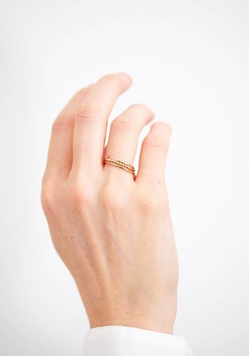 Susumi Studio 14k Yellow-Rose Shared Ring