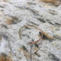 14k Split Band Ring