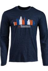 Cincy Shirts Linear Skyline Long Sleeve
