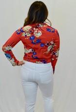 Brynleigh Red Floral Bodysuit