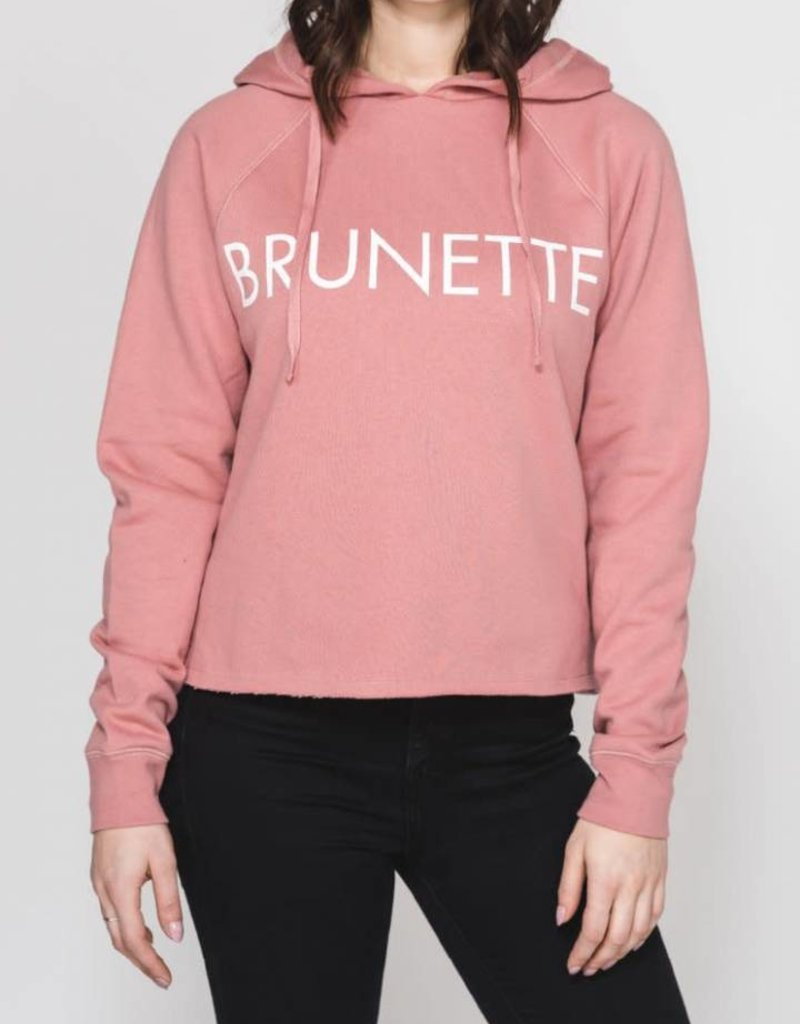 Brunette Raw Hem Hoodie