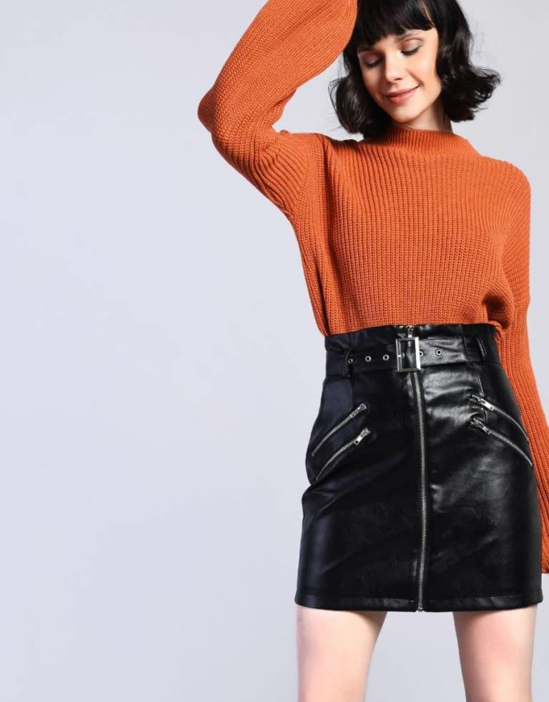 Glamorous RUST BALLOON SLEEVE SWEATER