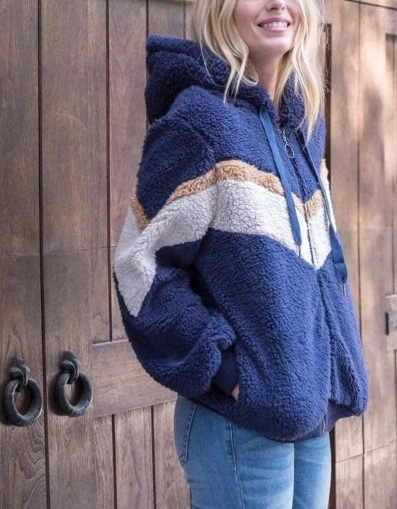 Sadie Navy Chevron Jacket